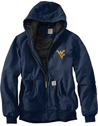 NCAA West Virginia Mountaineers Mens Ripstop Active Jacket by Carhartt