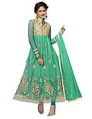 Price Bet Green Net Anarkali Suit Salwar Suit