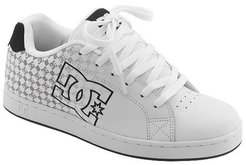 DC Men's Character Skate Shoe,White/Black Monogram,8 M