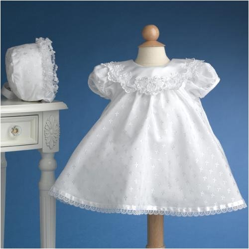 Christening Gowns Set ~ Lauren Madison Short Beaded Christening Gown with Embroidered Cross Print ~ 3172 - Buy Christening Gowns Set ~ Lauren Madison Short Beaded Christening Gown with Embroidered Cross Print ~ 3172 - Purchase Christening Gowns Set ~ Lauren Madison Short Beaded Christening Gown with Embroidered Cross Print ~ 3172 (Lauren Madison, Lauren Madison Apparel, Lauren Madison Toddler Girls Apparel, Apparel, Departments, Kids & Baby, Infants & Toddlers, Girls, Skirts, Dresses & Jumpers, Dresses)
