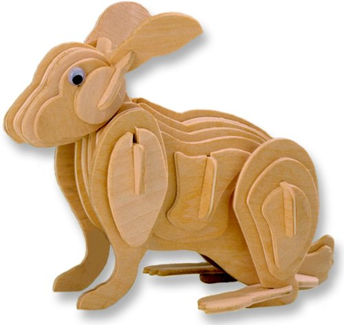 3-D Wooden Puzzle - Rabbit -Affordable Gift for your Little One! Item #DCHI-WPZ-M004
