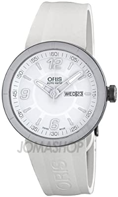 Oris Men's 01 735 7651 4166 07 4 25 07 TT1 White Dial Watch