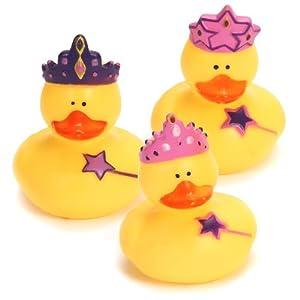 12 Princess Rubber Duckies!