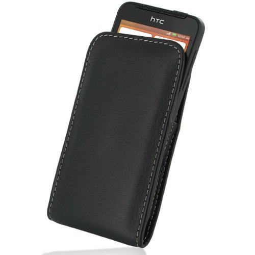 PDair VX1 Black Leather Case for HTC One V T320e