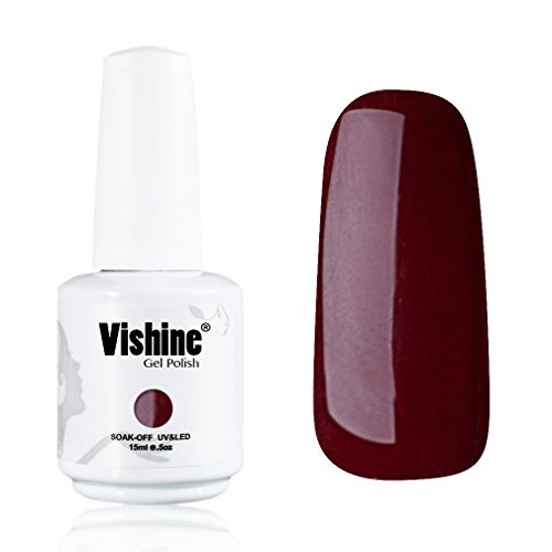 Vishine-Gelpolish-Professional-UV-LED-Soak-Off-Varnish-Color-Gel-Nail-Polish-Manicure-Salon-Dark-Red1418