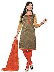 Golden Colour Banarasi Jacquard Printed Unstitched Dress Material