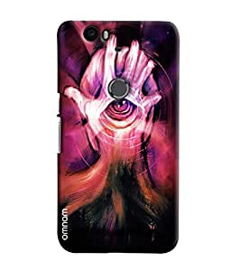 Omnam Hand And Eye On Mind Effect Printed Designer Back Cover Case For Google Nexus 6P