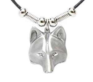 Earth Spirit Necklace - Wolf Head - Earth Spirit Necklace