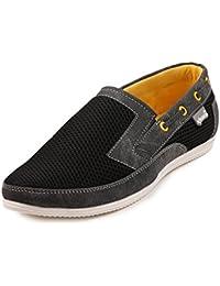Quarks Men's Black Casual Slip On Shoes - B016QAJCPQ