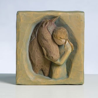 Quiet Strength Plaque By Willow Tree