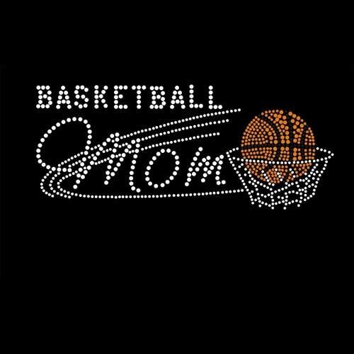 Basketball Mom Iron On Rhinestone T-shirt Transfer