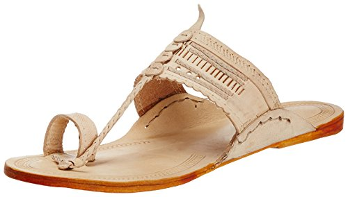 Pulpypapaya Pulpy Papaya Men's Elite Kolhapuri Slip On Leather Juttis And Mojaris (Multicolor)