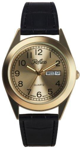 Reflex Retro Gold Strap Gents Classic Calendar/Day/Date
