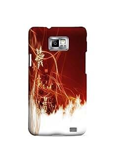 Bagsfull Designer Printed Matte Hard Back Cover Case for Samsung Galaxy S2 9100