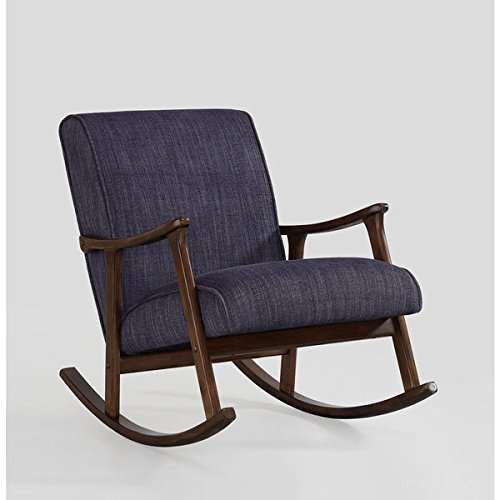 Retro Indigo Wooden Rocker 3