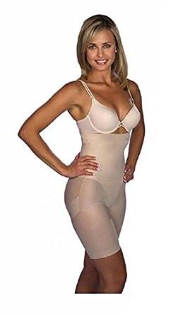 GAINE AMINCISSANTE EFFET MINCEUR SLIM PANTY BODYSHAPER beauté slim n lift pantalons amincissants, de haute qualité pour les femmes façonneur par Boolavard ® TM (L : 83 - 101 cm (38/40), Beige)