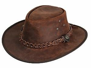 Scippis Leder Westernhut Cowboyhut »Hooley« Braun (S)