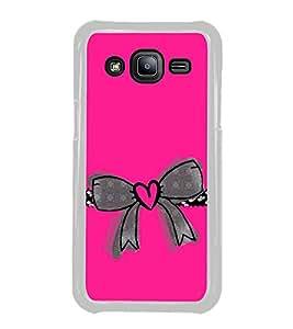 Heart Bow 2D Hard Polycarbonate Designer Back Case Cover for Samsung Galaxy J2 J200G (2015) :: Samsung Galaxy J2 Duos :: Samsung Galaxy J2 J200F J200Y J200H J200GU