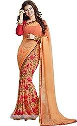 Hari Krishna sarees Self Design Bollywood Georgette Sari/F234