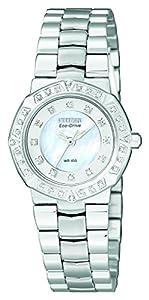 Citizen EP5830-56D - Reloj de cuarzo para mujer, correa de acero inoxidable