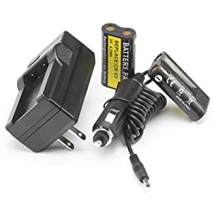 2 Lithium-Ion Battery&Charger for Kodak CR-V3 CRV3