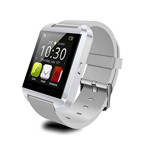 Pandaoo Bluetooth Smart Watch WristWatch U8 UWatch Fit for Smartphones IOS Apple iphone Android (White)