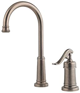 Pfister GT72-YP2 Ashfield Bar Faucet with Country Pump Style Handle (Low Lead Compliant), Rustic Pewter