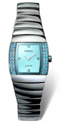 Rado Sintra Superjubile Blue Diamond Platinum-tone Ceramic Mini Ladies Watch R13580912