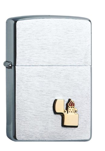 Zippo Feuerzeug Chrome, mit Zippo-Emblem