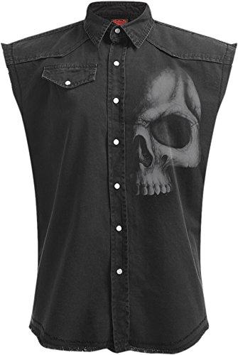 Spiral -  Camicia Casual  - Uomo Black XXX-Large