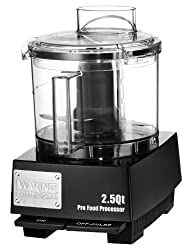 Waring Commercial WFP11SW Sealed Space-Saving Batch Bowl Food Processor with LiquiLock Seal System 2-1/2-Quart