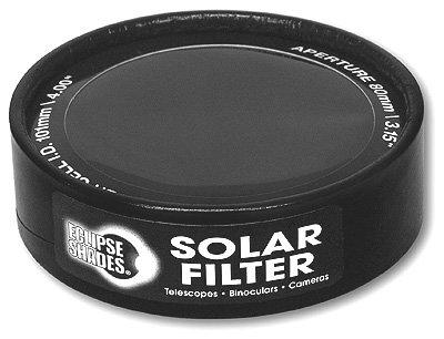"Solar Filter 101Mm/4.00"" - Black Polymer - Binoculars, Telescopes And Cameras - Eclipse Viewing, Sunspots, Solar Flares"