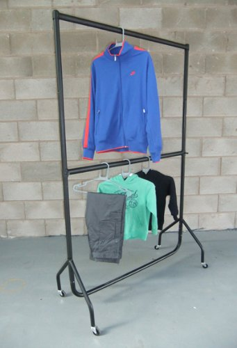 Heavy Duty Clothes Rail DOUBLE HANGING RAIL 5ft Long x 6ft 6