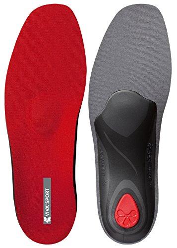 Pedag Viva Sport Semi-Rigid Orthotic for Impact Sports with Met Pad and Heel Cushion, Red, EU 43/US M10