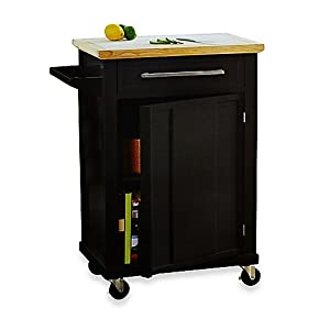 Rolling Kitchen Cart With Single Drawer And