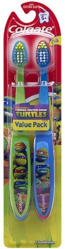 Colgate Kids Twin Pack Toothbrush, Ninja Turtles front-500530