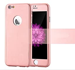 iPhone 6/6s 4.7 Inch Full Body Case-Superstart Pink Ultra Slim Front and Back PC Hard Cover + Tempered Glass Sreen Protector for iPhone 6/6s 4.7 Inch