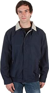 GSBCR - Adult Mens Two-Tone Water-Resistant Golf / Windbreaker Jacket - Navy/X-Large