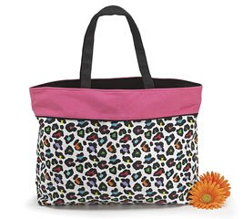 Sassi Safari Colorful Cheetah Tote Bag Fabric Black