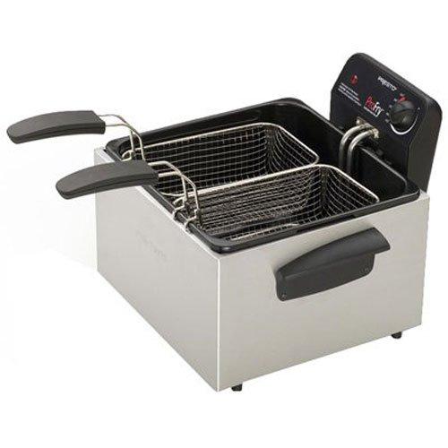 Presto 05466 Stainless Steel  Dual Basket Pro Fry Immersion Element Deep Fryer (Presto Chicken Fryer compare prices)