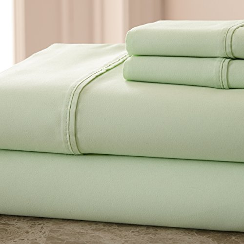 800 Thread Count Cotton Rich SOLID Hotel NY - Highest Quality, Queen Sage Bedsheets (Hotel New York 800 Thread Count compare prices)