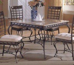 antique bronze metal w marble top dining room
