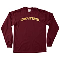 NCAA Iowa State Cyclones 100-Percent Pre-Shrunk Vintage Arch Long Sleeve Tee,... by SDI
