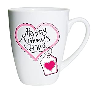 Heart Stitch Happy Mummy's Day Small Latte Mug Keepsake Novelty Mother's Day Present Gift Coffee Tea