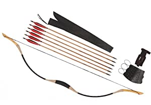Archery Combination Customize Printing Flower Longbow Recurve Bow 6 Bamboo Arrows... by Longbowmaker