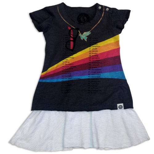 Mini Shatsu 50 Things I Love Short Sleeve Dress-4T-Black front-120578