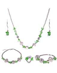 ARC 5 Piece Crystal Breads Combo Jewellery Set (01212020)