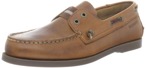 Sebago Men's Wharf Slip On Oxford,Tan,9.5 M US