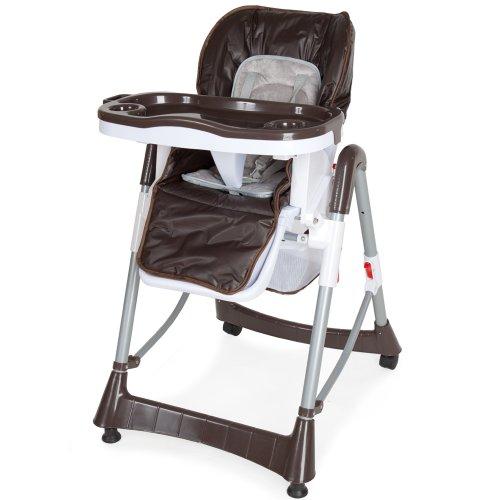 TecTake Baby highchair height adjustable coffee