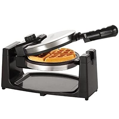 BELLA 13991 Rotating Waffle Maker, Polished Stainless Steel New